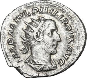 obverse: Philip I (244-249).. AR Antoninianus, 2nd emission, 244 AD