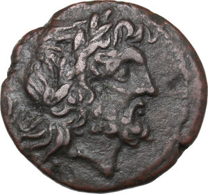 obverse: Bruttium, The Brettii. AE Unit, 214-211 BC