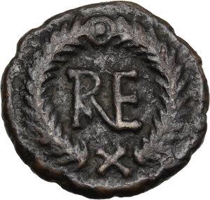 reverse: Ostrogothic Italy, Theoderic (493-526).. AE Decanummium, Ravenna mint