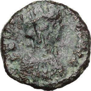 obverse: Ostrogothic Italy, Theoderic (493-526).. AE Decanummium. Municipal bronze coinage of Ravenna, c. 536-554 AD