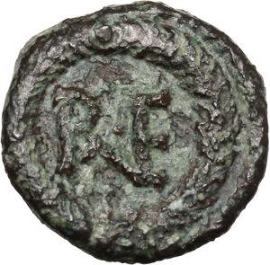 reverse: Ostrogothic Italy, Theoderic (493-526).. AE Decanummium. Municipal bronze coinage of Ravenna, c. 536-554 AD