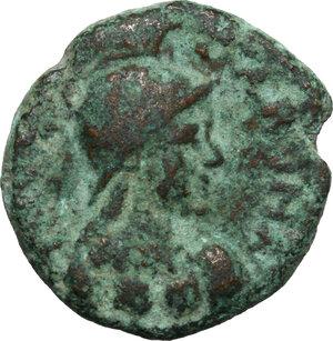 obverse: Ostrogothic Italy, Athalaric (526-534).. AE 20 Nummi – Half Follis. Rome mint