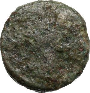 obverse: Ostrogothic Italy, Baduila (541-552).. AE Minimus, Ticinum mint