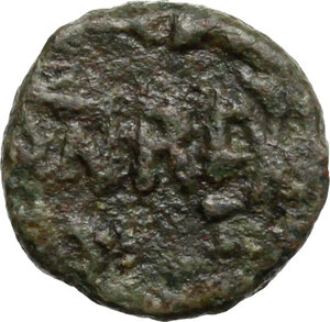 reverse: Ostrogothic Italy, Baduila (541-552).. AE Minimus, Ticinum mint