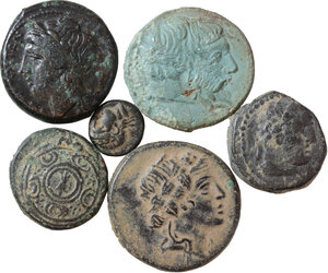 Greek World. Lot of 6 AE denominations, including: Neapolis, Amisos, Seuthes III, Kebren, Alexander III the Great and Sardes
