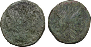 obverse: Pompey the Great.. Lot of two (2) AE As