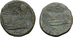 reverse: Pompey the Great.. Lot of two (2) AE As