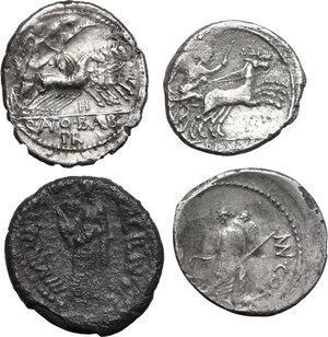 reverse: Roman Republic. Multiple lot of four (4) AR Denarii