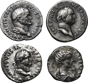 obverse: The Roman Empire.. Multiple lot of four (4) AR Denarii