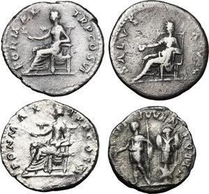reverse: The Roman Empire.. Multiple lot of four (4) AR Denarii
