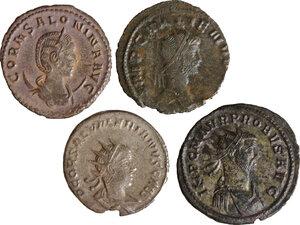 obverse: Roman Empire. Lot of 4 Antoniniani, including: Probus, Gallienus, Saloninus and Salonina