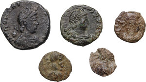 obverse: Late Roman Empire.. Multiple lot of five (5) AE Fractionals
