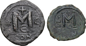 reverse: The Byzantine Empire.. Multiple lot of two (2) unclassified AE Follis