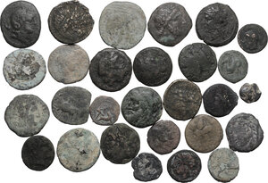 obverse: Miscellaneous. Multiple lot of twenty eight (28) AE unclassified coins