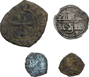 obverse: Medieval.. Multiple lot of four (4) AR and BI coins of South Italy