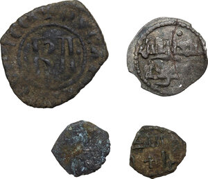 reverse: Medieval.. Multiple lot of four (4) AR and BI coins of South Italy