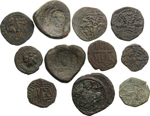 obverse: Medieval. Lot of 11 unclassified Follari of Sicily, 12th-13th century
