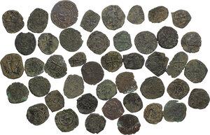 obverse: Medieval. Lot of 44 unclassified BI Denari of Italy, 11th-14th century