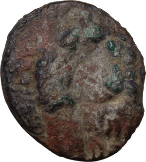 obverse: Celtic, Eastern Europe. BI Tetradrachm. Kugelwange type. Struck by the Skordoski in Syrmia