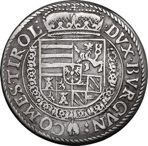 reverse: Austria.  Archduke Ferdinand (1564-1595).. AR 1/4 Taler, without year, Hall in Tirol mint