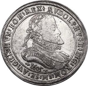 obverse: Austria.  Rudolph II (1576-1612). AR Taler 1605, Hall mint