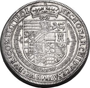 reverse: Austria.  Rudolph II (1576-1612). AR Taler 1605, Hall mint