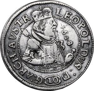 obverse: Austria.  Leopold V (1619-1632). AR 10 Kreuzer 1628, Hall mint