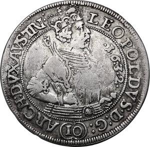 obverse: Austria.  Leopold V (1619-1632). AR 10 Kreuzer 1632, Hall mint