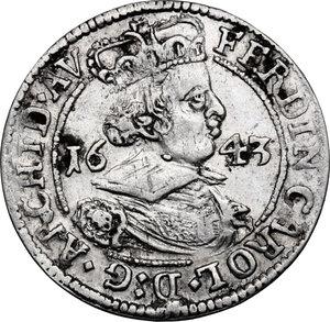 obverse: Austria.  Ferdinand Karl (1646-1662). AR 3 Kreuzer 1643, Hall mint