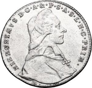 obverse: Austria.  Hieronymus von Colloredo (1771-1803). AR 20 kreuzer 1788