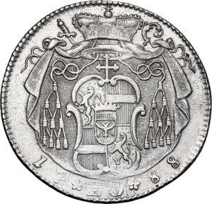 reverse: Austria.  Hieronymus von Colloredo (1771-1803). AR 20 kreuzer 1788