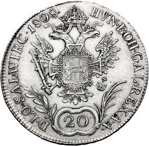 reverse: Austria.  Franz I (1804-1835). 20 Kreuzer 1808 A, Wien mint