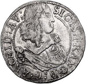 obverse: Austria.  Sigismund Franz (1662-1665). AR 3 Kreuzer 1663, Hall mint