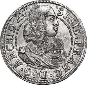 obverse: Austria.  Sigismund Franz (1662-1665). AR 3 Kreuzer 1664, Hall mint