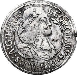 obverse: Austria.  Leopold I (1657-1705). AR 3 Kreuzer 1667, Hall mint