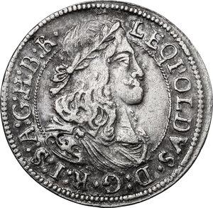 obverse: Austria.  Leopold I (1657-1705). AR 3 Kreuzer 1668, Hall mint