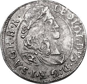 obverse: Austria.  Leopold I (1658-1705). AR 3 Kreuzer 1676, Hall mint