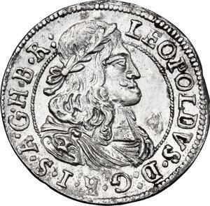 obverse: Austria.  Leopold I (1657-1705). AR 3 Kreuzer 1679, Hall mint