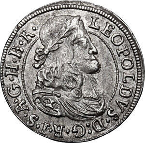 obverse: Austria.  Leopold I (1657-1705). AR 3 Kreuzer 1681, Hall mint