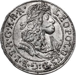 obverse: Austria.  Leopold I (1657-1705). AR 3 Kreuzer 1686, Hall mint