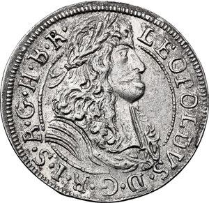 obverse: Austria.  Leopold I (1657-1705). AR 3 Kreuzer 1688, Hall mint