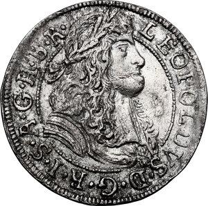 obverse: Austria.  Leopold I (1658-1705). AR 3 Kreuzer 1688, Hall mint