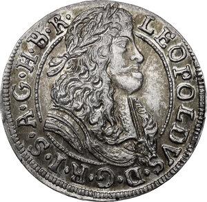 obverse: Austria.  Leopold I (1657-1705).. AR 3 Kreuzer 1689, Hall mint