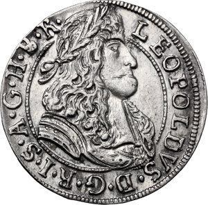 obverse: Austria.  Leopold I (1657-1705). AR 3 Kreuzer 1689, Hall mint