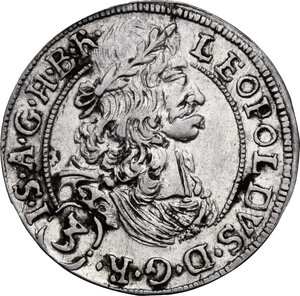 obverse: Austria.  Leopold I (1657-1705).. AR 3 Kreuzer 1692, Hall mint