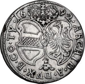 reverse: Austria.  Leopold I (1657-1705).. AR 3 Kreuzer 1692, Hall mint