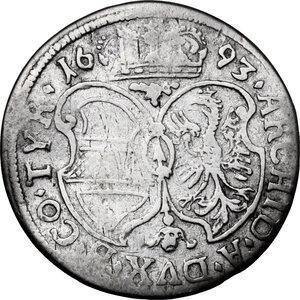 reverse: Austria.  Leopold I (1657-1705). AR 3 Kreuzer 1693, Hall mint
