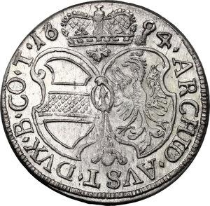 reverse: Austria.  Leopold I (1657-1705). AR 3 Kreuzer 1694, Hall mint