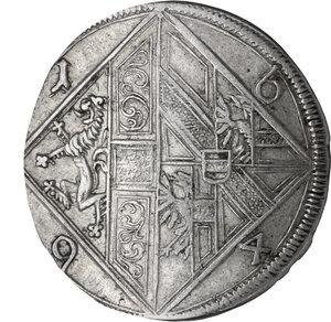 obverse: Austria.  Johann Ernst Graf Von Thun (1687-1709). AR 15 Kreuzer 1694, Salzburg mint