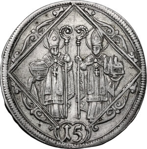reverse: Austria.  Johann Ernst Graf Von Thun (1687-1709). AR 15 Kreuzer 1694, Salzburg mint